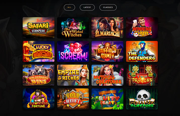 Image of DragonGaming Slots Game Selection