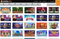 Casino.com Casino games