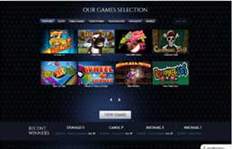 Lincoln Casino Game selection