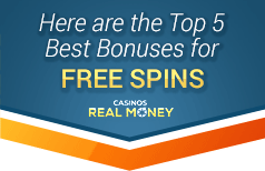 image of the top free spins bonuses