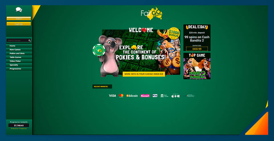 Image of Fair Go Casino - Best Australian Online Casino