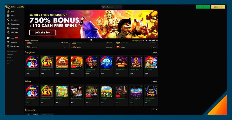 Image of Rich Casino - Best Australian Online Casino