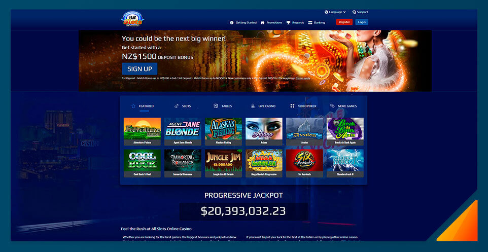Image of All Slots Casinio New Zealand