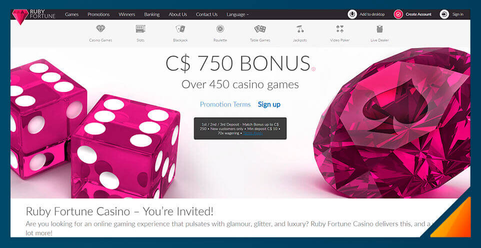 Image of Best Online Casino Canada Ruby Fortune