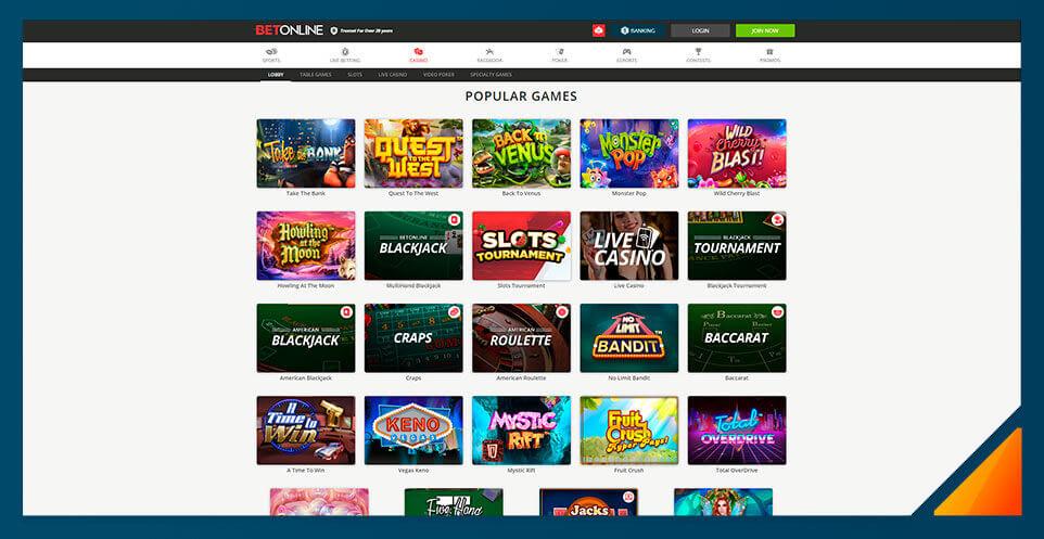 Image of Real Money Casino BetOnline Casino