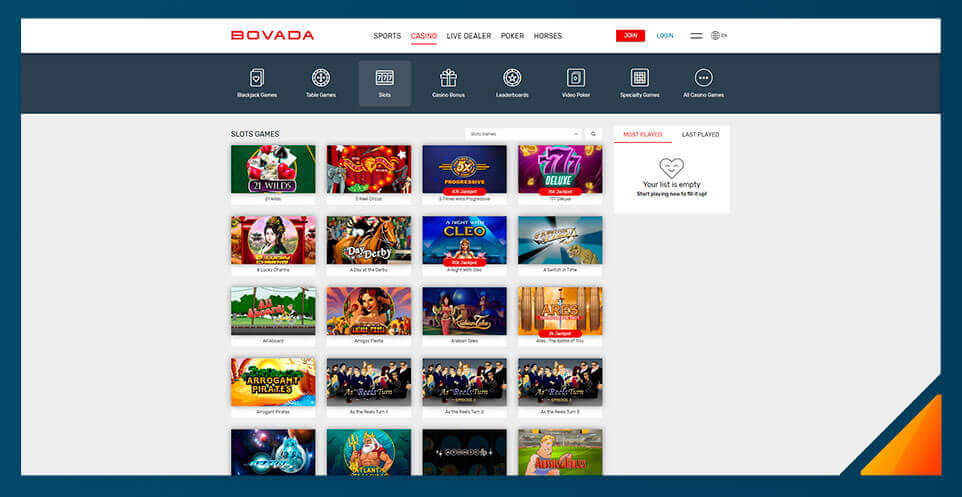 Image of Real Money Casino Bovada Casino