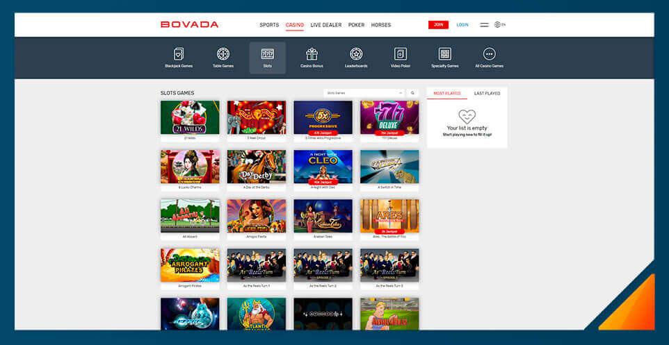 Image of Real Money Casino Bovada Casino