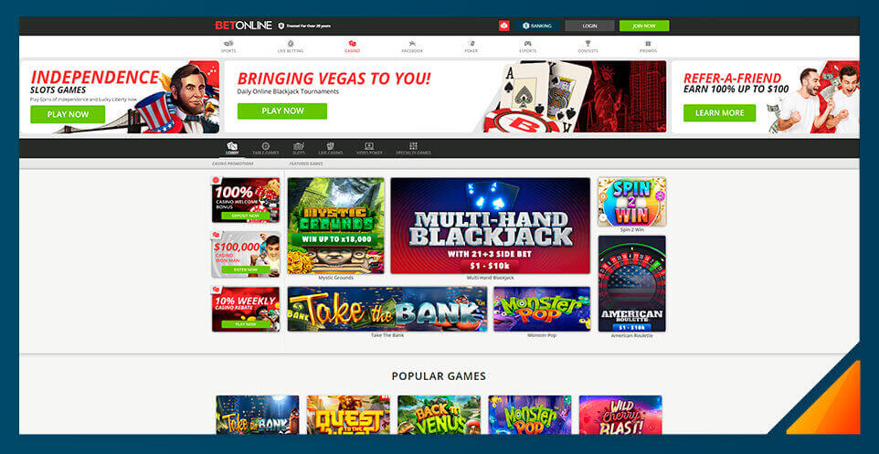 Image of BetOnline Casino -Best US Online Casino