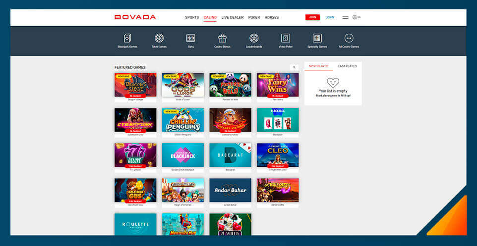 Image of Bovada Casino -Best US Online Casino