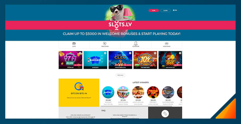 Image of Slots.lv -Best US Online Casino