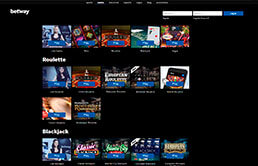 Casino Game Selection at Betway Casino