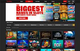 Image of Bodog Casino Home Screen