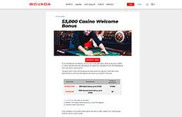 Image of Bovada Casino Welcome Bonus