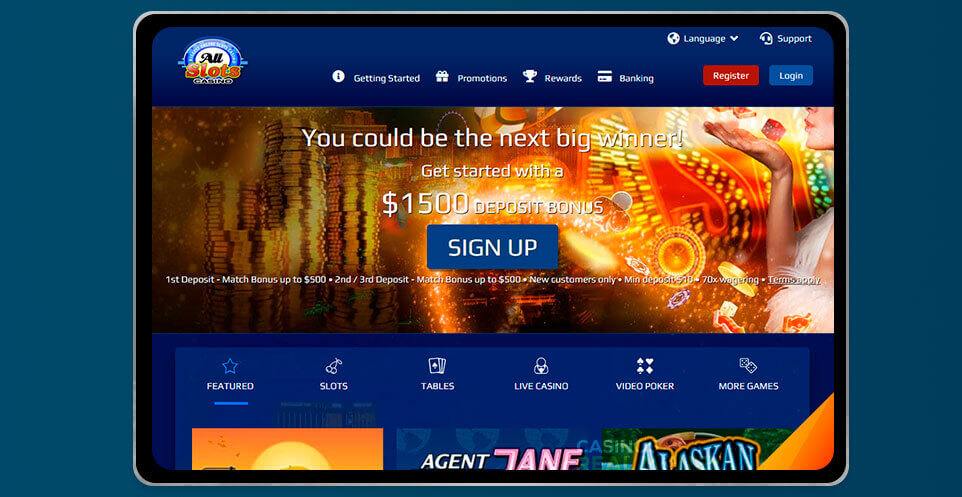 image of All Slots Casino App on IPad
