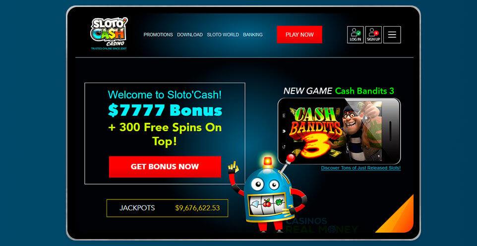 image of SlotoCash Casino App on IPad