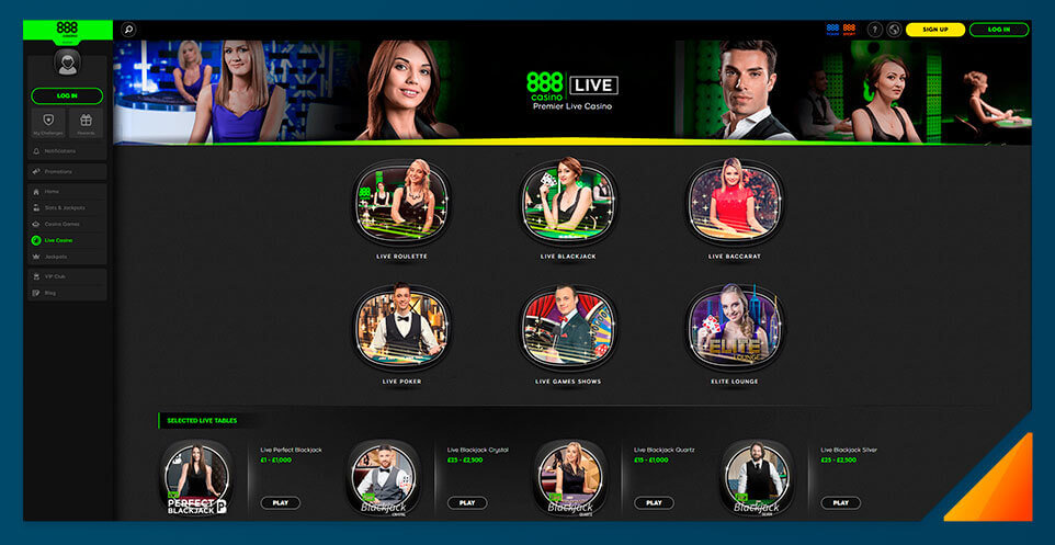 Image of 888Casino's Live Dealer Casino