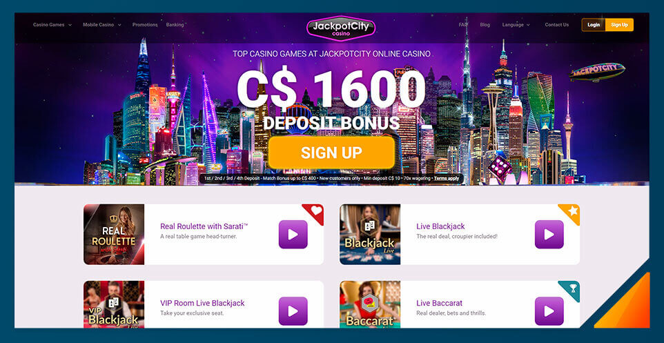 Image of Jackpot City's Live Dealer Casino