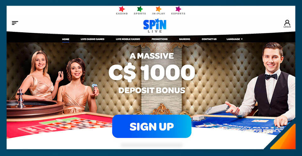 Image of Spin Casino's Live Dealer Casino