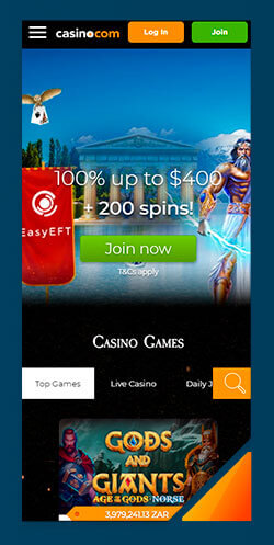 Image of Best Android Casino Casino.com