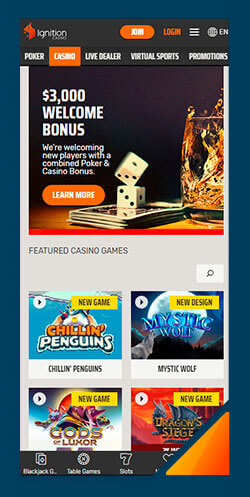 Image of Best Android Casino Ignition Casino