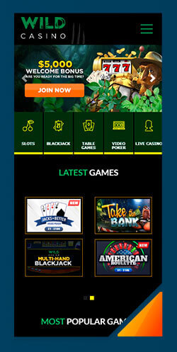 Image of Best Android Casino Wild Casino