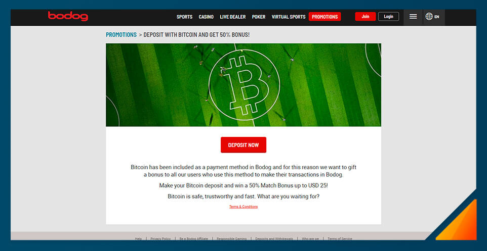 Image of Bodog Casino Bitcoin Bonus