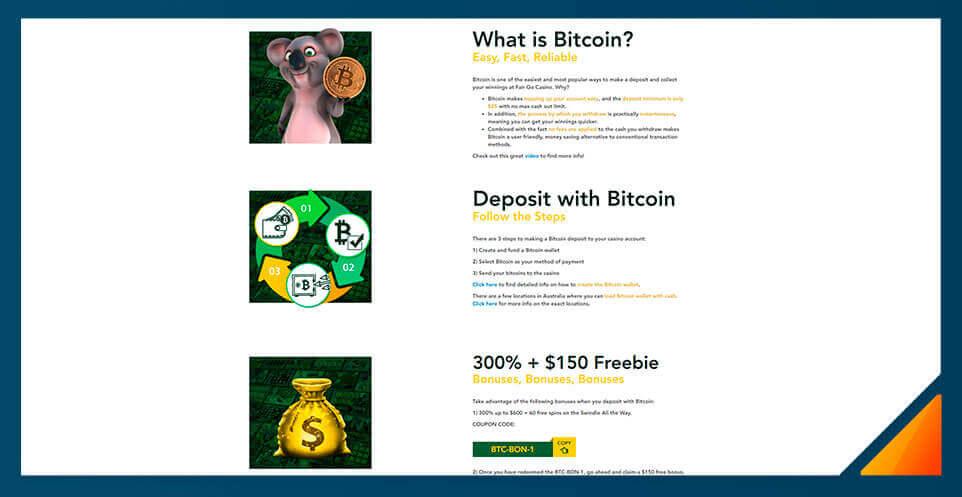 Image of Fair Go Casino - Best Bitcoin Casino