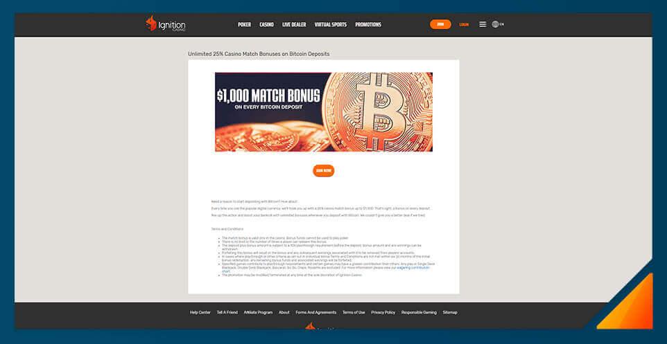 Image of Ignition Casino - Best Bitcoin Casino