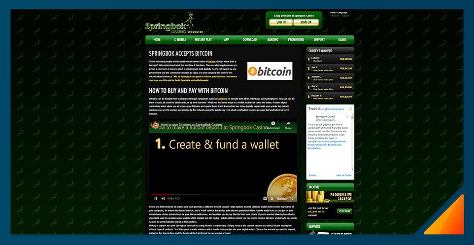 Image of Springbok Casino - Best Bitcoin Casino