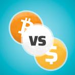 Bitcoin vs Fiat Cash Icon