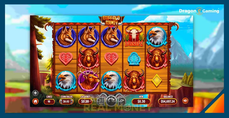 Image of Dragon Gaming Slot Game Buffalo Bounty