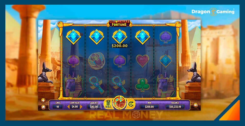 Image of Dragon Gaming Slot Game Cleopatras Fortune