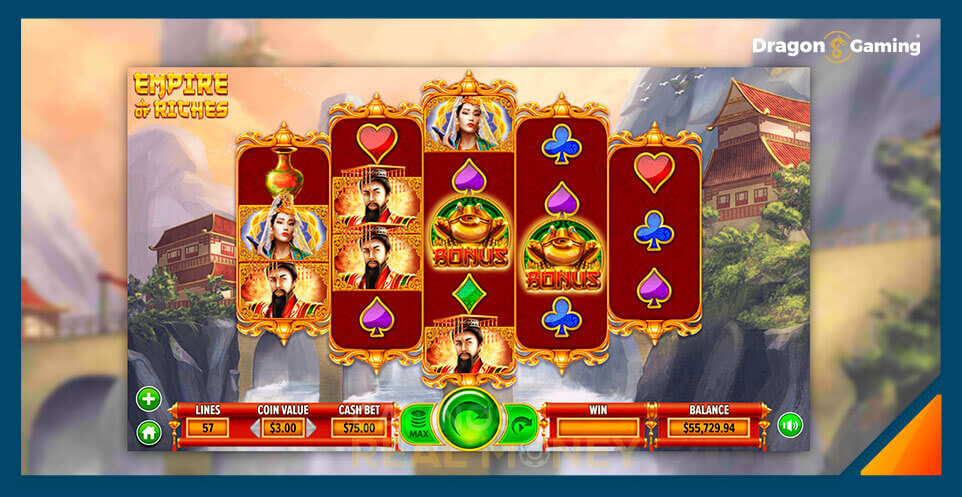 Image of Dragon Gaming Slot Game Empire of Riches