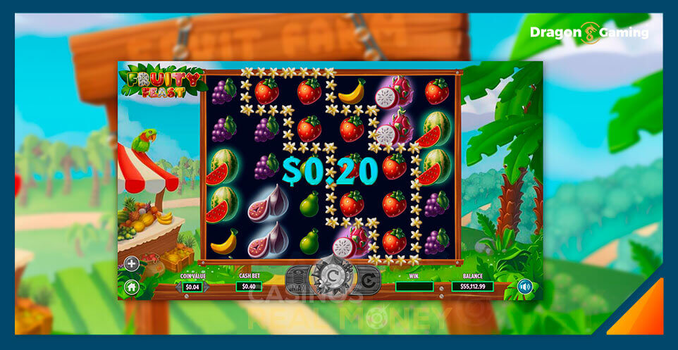 Image of Dragon Gaming Slot Game Fruity Feast