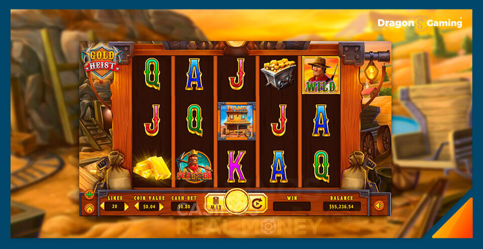 Image of Dragon Gaming Slot Game Gold Heist