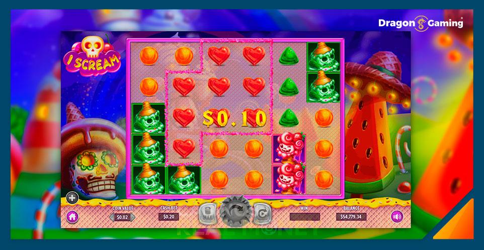 Image of Dragon Gaming Slot Game iScream