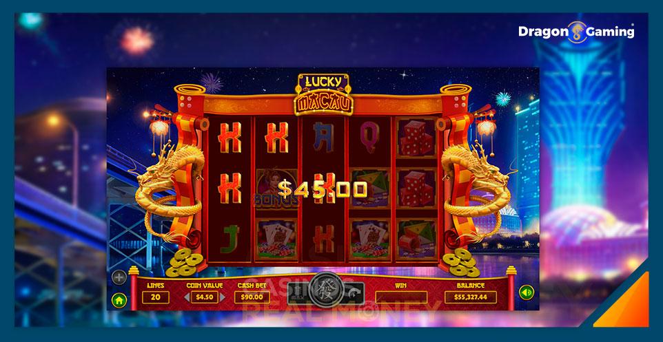 Image of Dragon Gaming Slot Game Winning Vegas