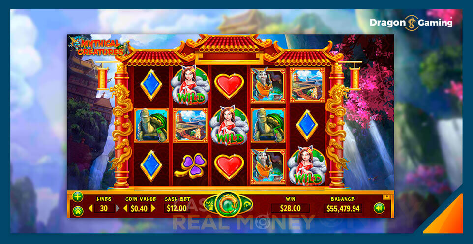 Image of Dragon Gaming Slot Game Mythical Creatures