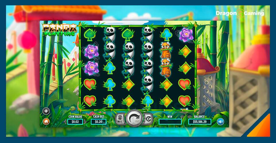 Image of Dragon Gaming Slot Game Panda Playtime