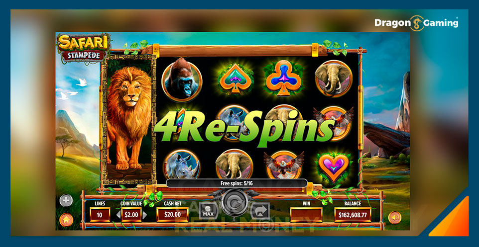 Image of Dragon Gaming Slot Game Safari Stampede