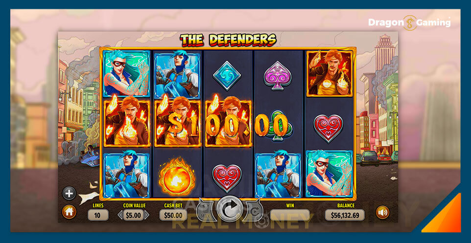Image of Dragon Gaming Slot Game The Defenders
