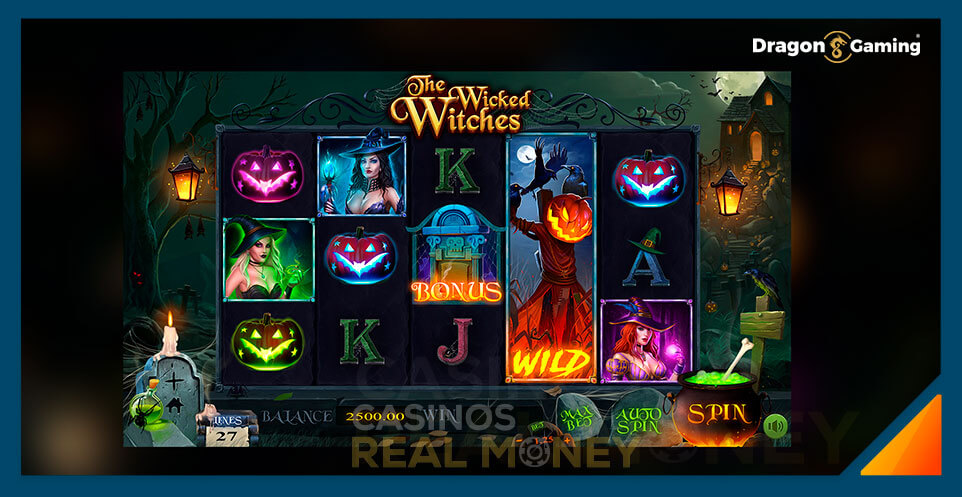 Image of Dragon Gaming Slot Game The Wicked Witches