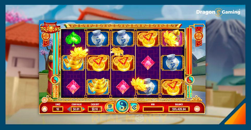 Image of Dragon Gaming Slot Game Twin Dragons