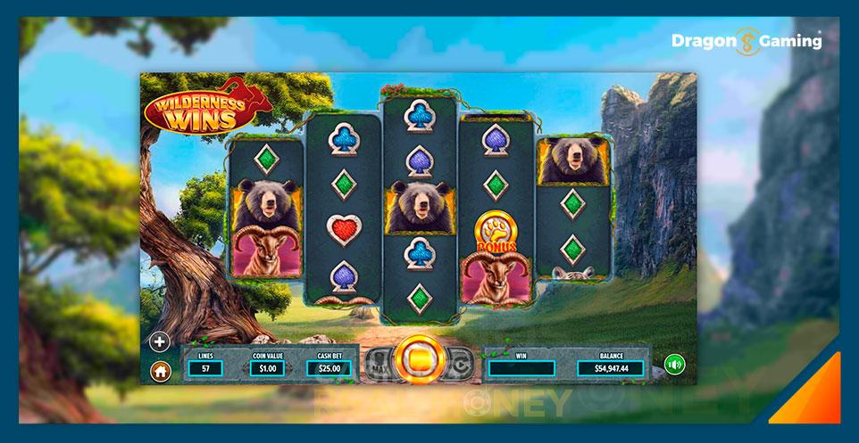 Image of Dragon Gaming Slot Game Wilderness Wins