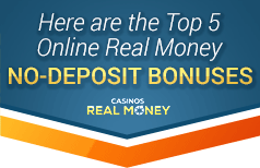 top 5 no deposit bonuses