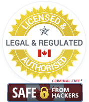 Licensed & Authorised, Legal & Regulated Canadian Casinos. Criminal-Free and Safe from Hackers.