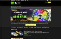 888 Casino printscreen 2