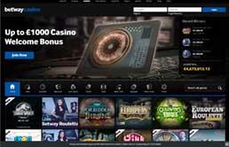 Betway Casino printscreen 1