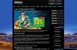 Yebo Casino printscreen 2