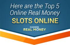 top 5 real money slots online
